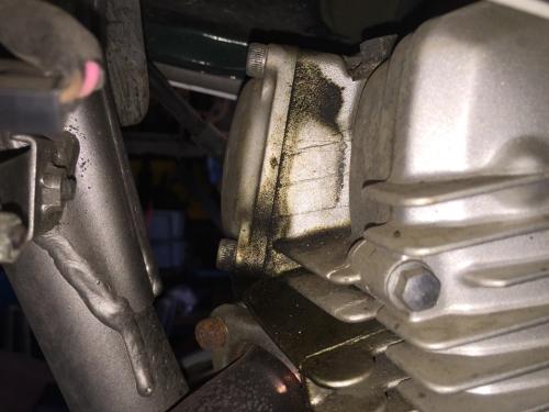 ヤマハ SEROW223 ヘッドガスケットから漏れ