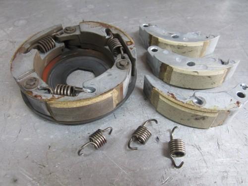 ホンダ スペイシー100 Vベルト クラッチ関係交換