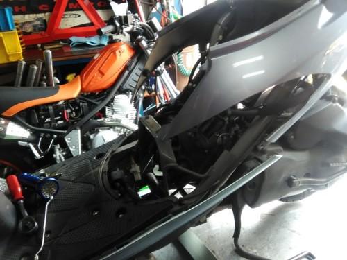 スズキ アドレスV50のバルブクリアランス調整